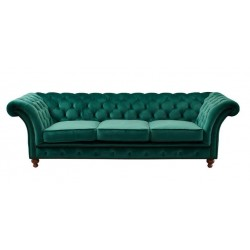 Linda Round Arm Chesterfield 3 Seater