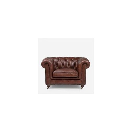 Linda Round Arm Chesterfield 1 Seater