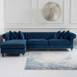 Linda 2 Seater Round Arm Chesterfield Couch
