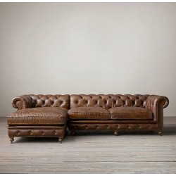 Linda Square Arm Corner Chesterfield