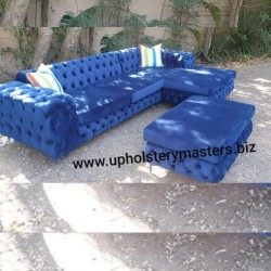 Jabu Chesterfield Corner Couch Suite